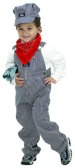 Jr Train Engineer Suit Toddler Costume Ages 2-3 (BTE-23)