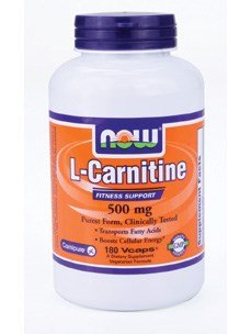 L-Carnitine, 500 mg, 180 Vcaps - Now Foods