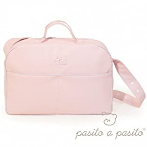 Pasito a Pasito - Bolsa Canastilla Polipiel Rosa (AL) en BebeHogar.com