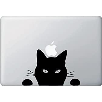 MacBook 対応 アートステッカー☆ - Black Cat -