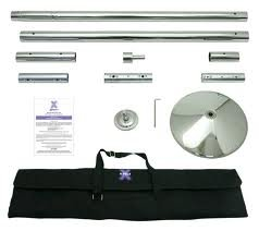 X Pole XPert 40mm Chrome - Static And Spinning - Professional Pole Dancing Kit
