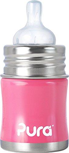 Pura-Kiki-897261002795-Babyflasche-Edelstahl-150-ml-pink