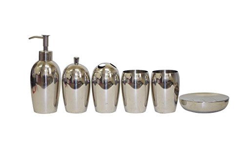 waymay-6-pieces-18-8304-stainless-steel-bathroom-set