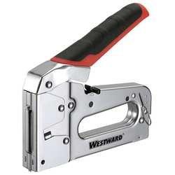 Westward 10G970 Staple/Nail Gun, Flat, 27/64, 1/4 -9/16 Leg