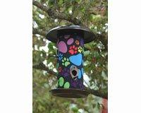 Toland Home Garden Puppy Paws 14.5-Inch Hanging Art Bird Feeder 202044