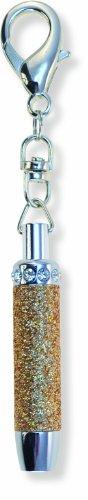 Puzzled Sparkling Keychain Flashlight, Brown - 1
