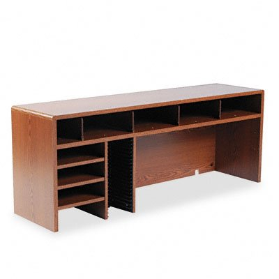 Shopping Safco 3666mo Wood High Clearance Single Shelf
