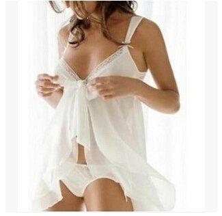 LYEP Sexy Babydolls Dessous Negligee Damen Unterwäsche Weiß