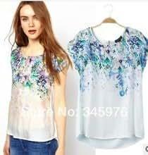 Fashion Women Short Sleeve Blusas at Amazon Women's Clothing store
