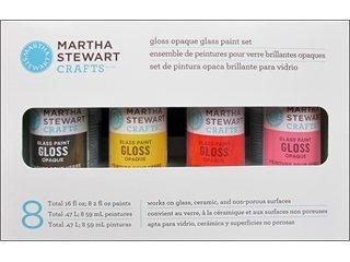 Martha Stewart Paint Set, 2-Ounce, Opaque Glass Paints front-141140