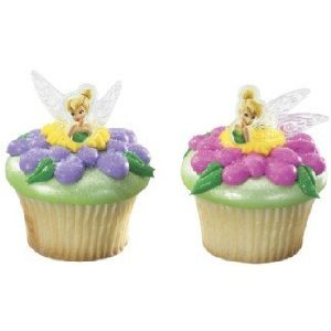 Tinkerbell Cupcake Rings Cake Toppers