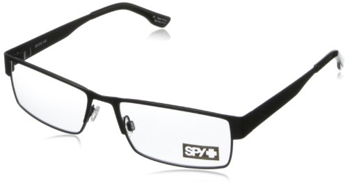 Spy Elijah Rectangular Eyeglasses,Matte Black,55 Mm