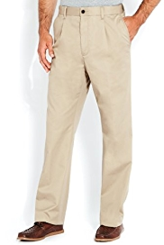 Shorter Length Pure Cotton Pleat Front Regular Fit Chinos with Stormwear+™