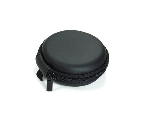 Bluecell Black Color Pu Leather Earphone Hard Case