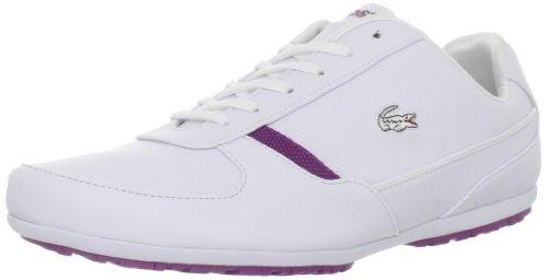 Lacoste Women's Atherton PS Fashion Sneaker,White/Purple,9 M US