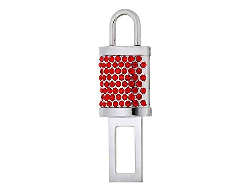 Generic Magnetic Crystal Lock Shaped Car Auto Safety Seat Belt Buckle (Red) front-400328
