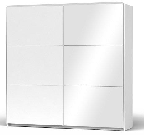 Armario puerta armario albornoz Slide Door blanco/puerta con espejo Ancho 220