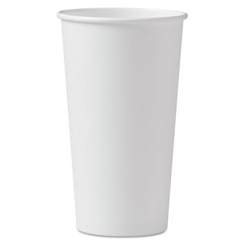 SOLO Cup Company Polycoated Hot Paper Cups, 20 oz., White - Includes 15 sleeves of 40 each.