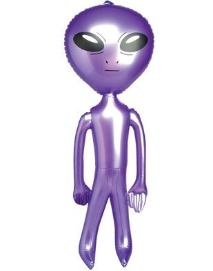 5' Purple Inflatable Martian Alien Prop Toy Decoration