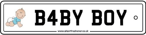 Baby Boy Number Plate Car Air Freshener back-455550
