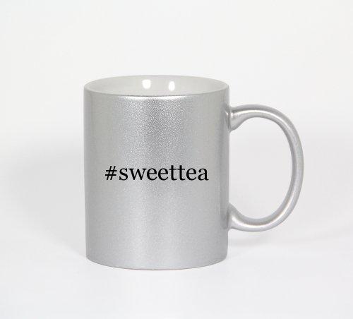 #Sweettea - Funny Hashtag 11Oz Silver Coffee Mug Cup