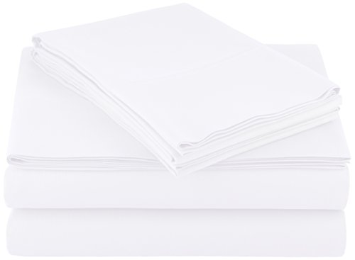 AmazonBasics Microfiber Sheet Set - Full, Bright White (Full Bedding Set White compare prices)
