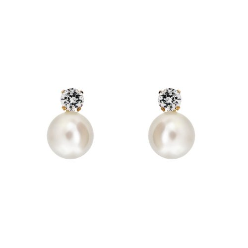 14k Gold Pearl Baby Earrings