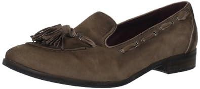(大降)爱步 ECCO 高端真皮复古流苏低跟皮鞋黑 $134.96
