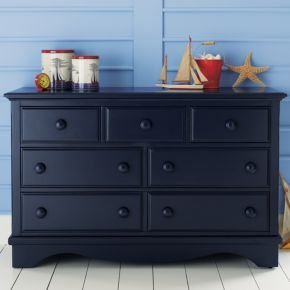 Cheap Kids Dressers: Kids 7 – Drawer Painted Dark Blue Walden Dresser (B003FIMIXQ)