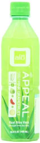 alo APPEAL Aloe Vera and Pomelo and Grapefruit and Lemon, 16.9-Ounce Bottles (Pack of 12)
