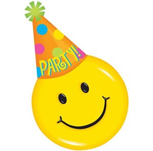 Amazon.com: Smiley Face Party Hat Design Invitations - 8 Pack: Toys