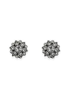 Floral Diamanté Stud Earrings