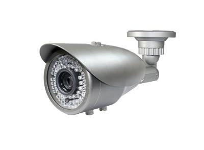 iPower Security SCCAME0006 HD-SDI Indoor Outdoor 2MP Bullet Security Camera with 200-Feet 2.8mm 12mm Vari Focal Lens 72 IR LED (Grey)