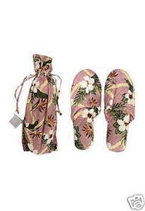 Cheap Hawaii Island Bath & Body Floral Jacquard Silk Slippers L/XL Rose (B003YQ5MOG)