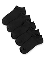 5 Pairs of Cotton Rich Trainer Liner Socks
