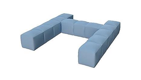Pigro Felice 921988-AQUABLUE Modul'Air Luxury Inflatable Single Top Backrest Piscina Galleggianti, Blu Acqua