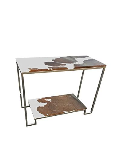 filling spaces Cowhide Console, Brown