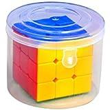 Vibgyor Vibes™ Sticker Less Magic Rubik Cube 3X3 Speed Cube Puzzle In A Gift Pack Jar (Train Your Brain)