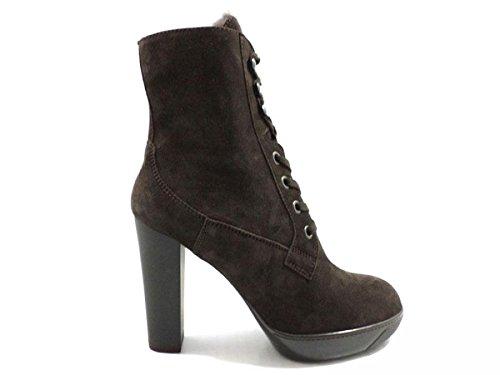 scarpe donna HOGAN stivaletti t. moro camoscio AZ893