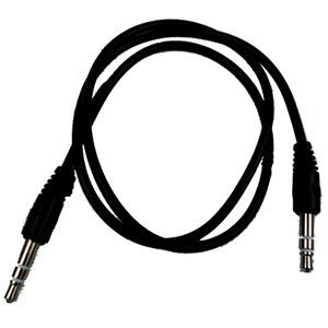 RND Power Solutions Auxiliary (AUX) Audio Cable for Samsung Smartphones (Black 2.5ft)