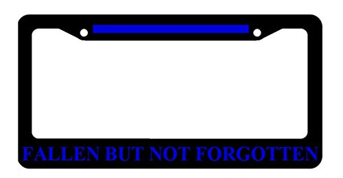 Fallen but Not Forgotten Thin Blue Line Police License Plate Frame (License Plate Police Frame compare prices)