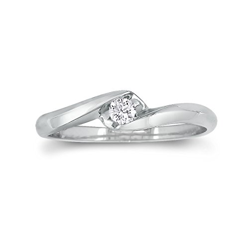 Sterling Silver Diamond Promise Ring (0.07ct)