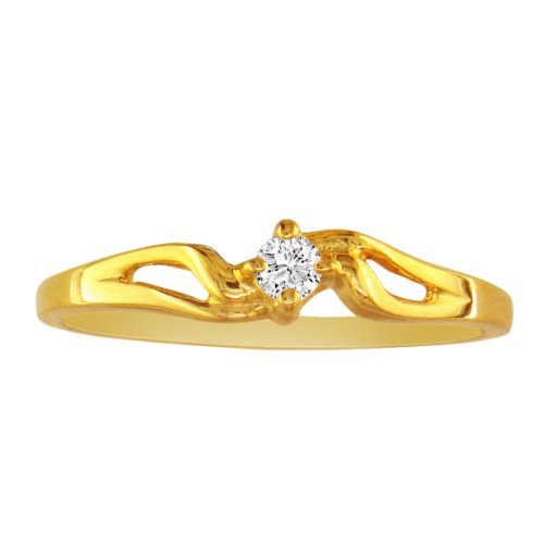 10K Yellow Gold Diamond Promise Ring, Available Ring Sizes 4-10, Ring Size 8