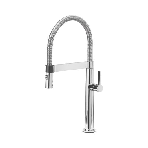 Blanco 441622 Culina Mini Kitchen Faucet with Pull Down Spray, Small, Chrome