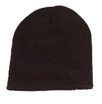 Blank Long Cuff Beanie - Black