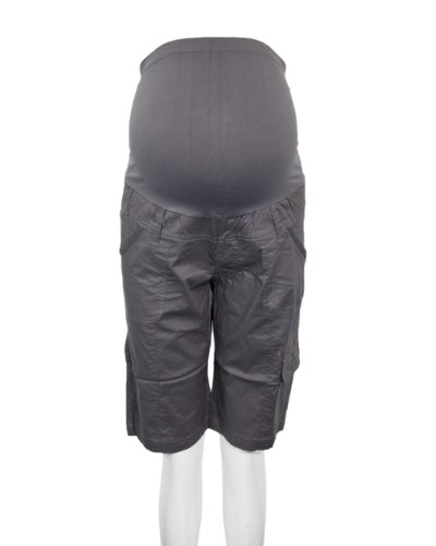8030793c5726c Gray Maternity Knee Length Cargo Shorts