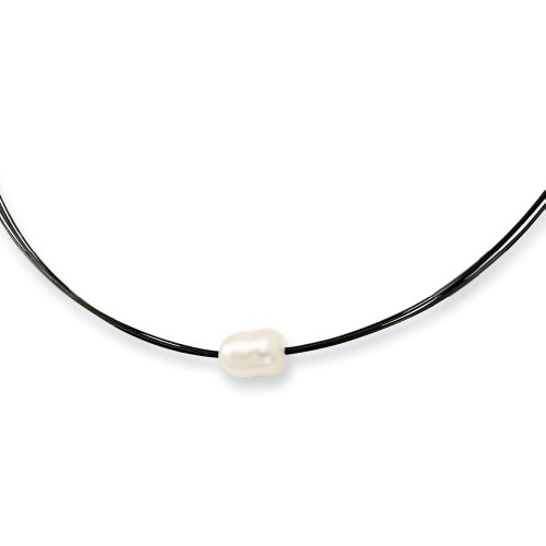6's Wire Cultured Ivory Pearl Necklace