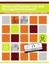 Large book cover: Advanced Business Law and the Legal Environment