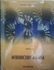 Introductory Algebra with Math XL (custom edition for...