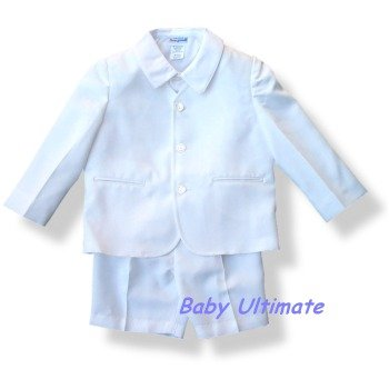 Buy Eton Suit ~ Toddler Boys Eton Suit in WHITE Gabardine by Imp Originals ~ 565WHT